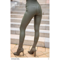 Bebe nadrág Zafír bőrhatású khaki