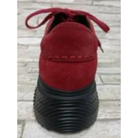 Bestello félcipő piros fűzős