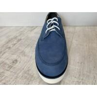Góral lengyel fűzős cipő kék-fehér