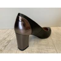 Rosa Bianca fekete-ezüst magas sarkú cipő