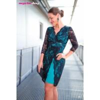 Mystic Day ruha Trixi csipkés türkiz-fekete
