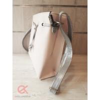 Diva táska púder-ezüst oldal