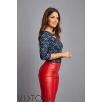 Viktori nadrág piros dupla zipes
