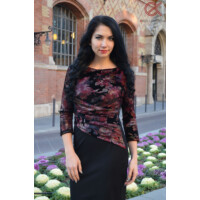 Tara hasán húzott fazonú ruha-bordó