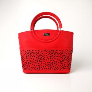 Diva Collection körfogós piros kézitáska