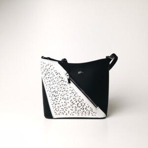Diva Collection Diagonal fekete-fehér oldaltáska