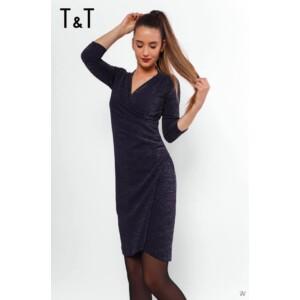 T&T Ila3 átlapolt csillogós ruha