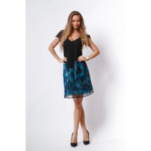 T&T ruha Gabriela fodros ujjú hímzett aljú,fekete