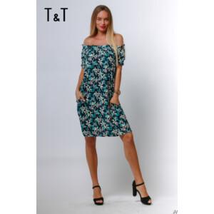 T&T ruha April gumis vállú virágos