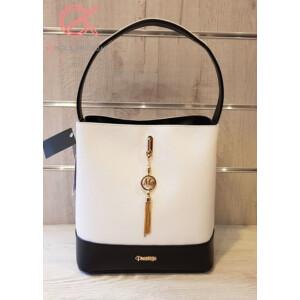 Prestige fekete-fehér táska