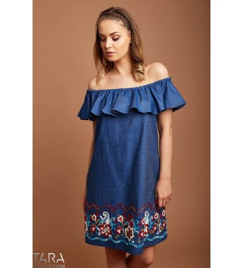 Tara hímzett aljú farmer ruha