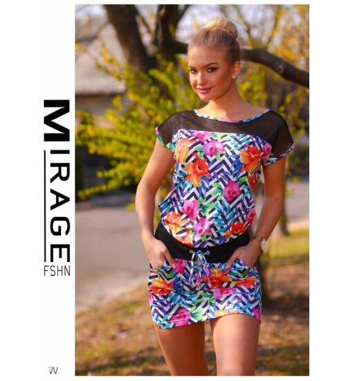 afa2fa2e79 Rövid ruhák Mirage Lily I. virágos kötős tunika/ruha