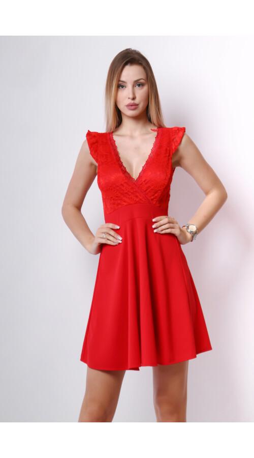 f5628eda36 Csipke ruha piros A vonalú Katt rá a felnagyításhoz