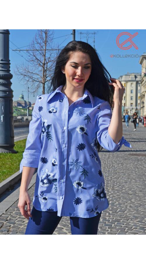 dd08663432 Mya hímzett csíkos ing Katt rá a felnagyításhoz