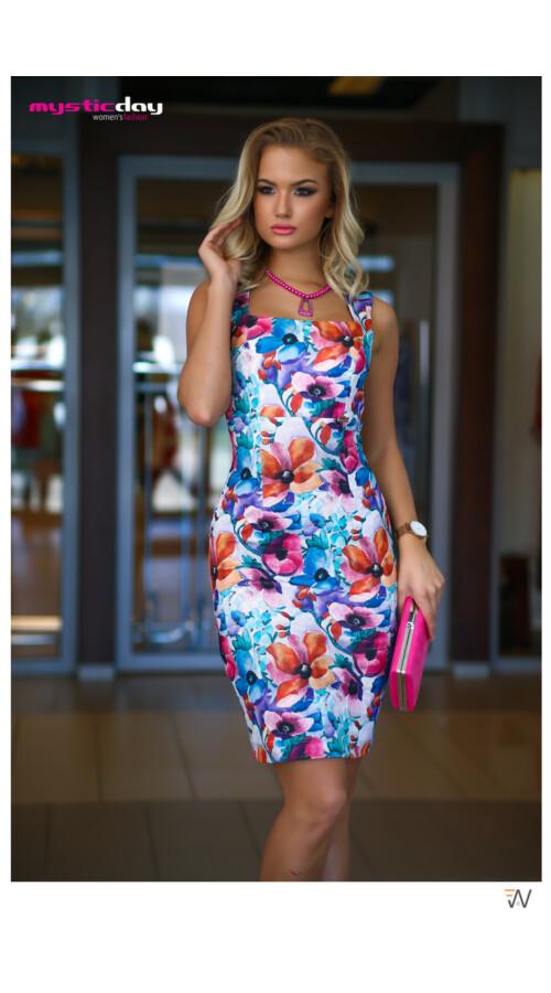 b029066b63 Mystic Day Violetta színes virágos ujjatlan ruha Katt rá a felnagyításhoz