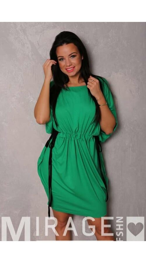 117c5e932c Rövid ruhák Mirage ruha Butter derekán megkötős zöld