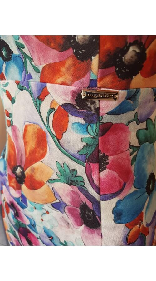 415dcb607e Alkalmi ruhák Mystic Day Violetta színes virágos ujjatlan ruha