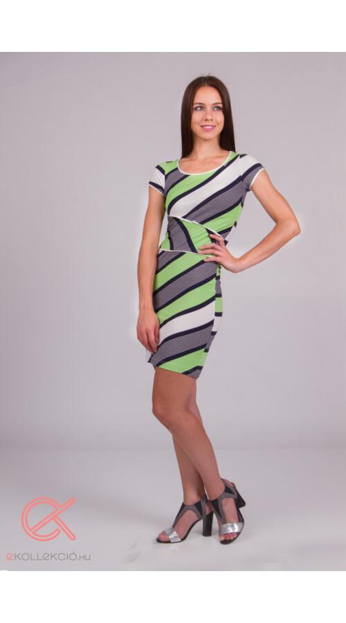 21f0cef15d Rövid ruhák T&T csíkos, derékban passzés ruha