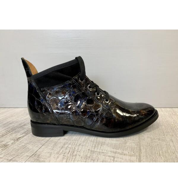 Bioeco cipő lakkozott kígyóbőrszerű fekete